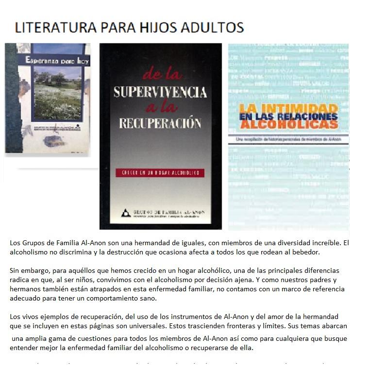 Literatura para Hijos Adultos